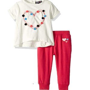 NWT Limited Too Girl's French Terry Pom Set Pants